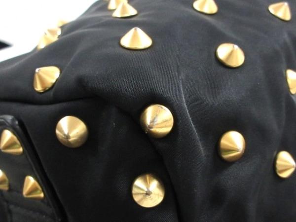 GIVENCHY(ジバンシー) ハンドバッグ - 黒 スタッズ ナイロン×レザー