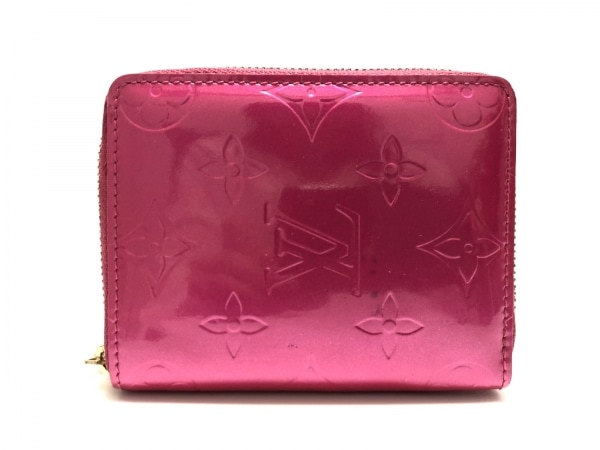 ルイヴィトン 2つ折り財布 モノグラムヴェルニ ブルーム M91238 フューシャピンク