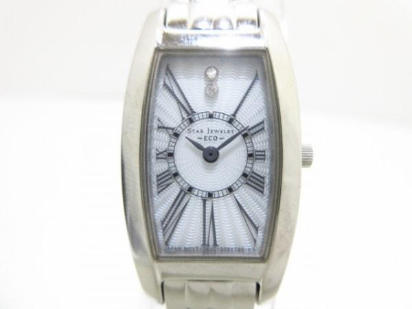 スタージュエリー 腕時計美品  ECO G620-S056373/2SW0823 レディース 白