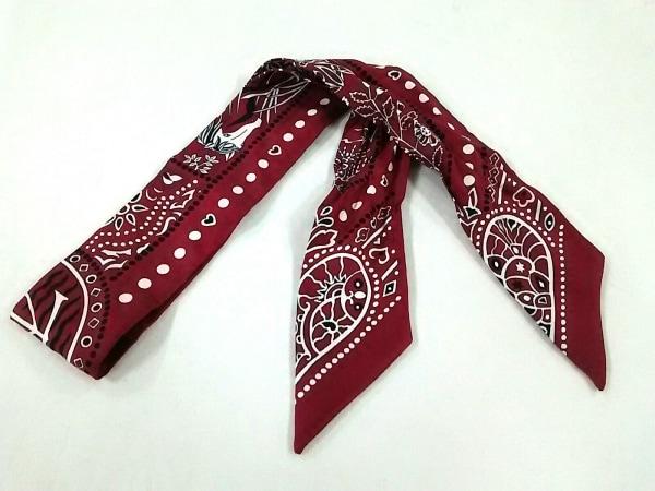 HERMES(エルメス) スカーフ美品  ツィリー H063017S 06 ボルドーブラン×ノワール