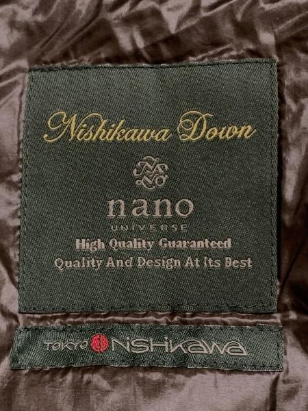 nano universe(ナノユニバース) ダウンコート サイズ40 M レディース ダークグレー