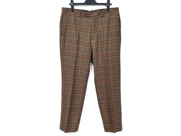 HERMES(エルメス) パンツ レディース美品  - - ブラウン×レッド