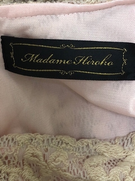 マダムヒロコ ワンピース サイズ9 M レディース美品  アイボリー×ピンク 花柄