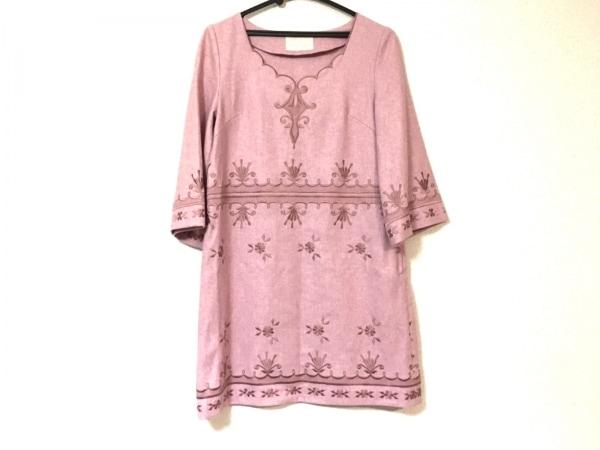 Language(ランゲージ) ワンピース レディース美品  ピンク 刺繍