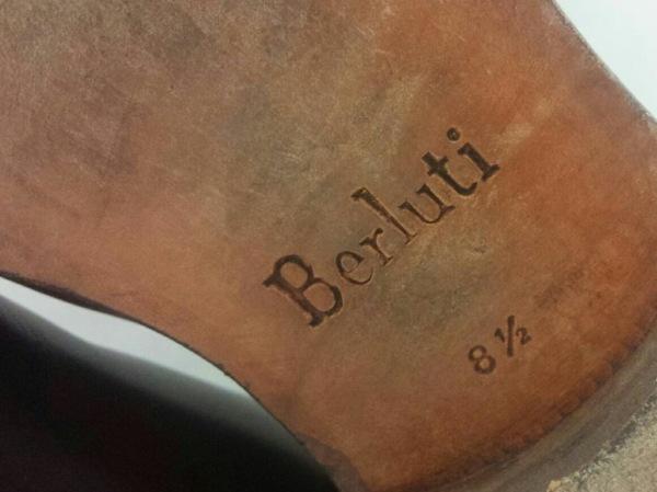 berluti(ベルルッティ) シューズ 8.5 メンズ 黒×ボルドー レザー