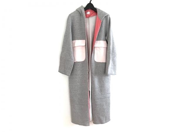 yori(ヨリ) コート サイズF レディース美品  ライトグレー×ピンク