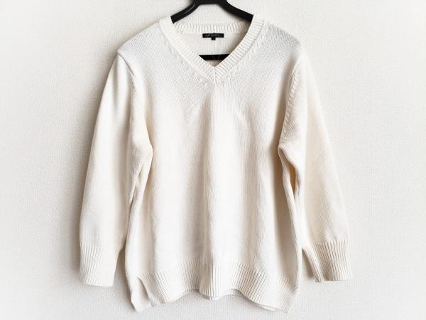 23区(ニジュウサンク) 長袖セーター サイズ48 XL レディース アイボリー