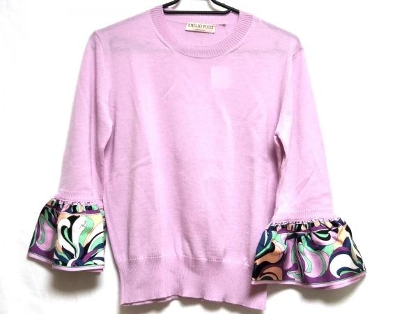 エミリオプッチ 七分袖セーター サイズS レディース美品  ピンク×マルチ