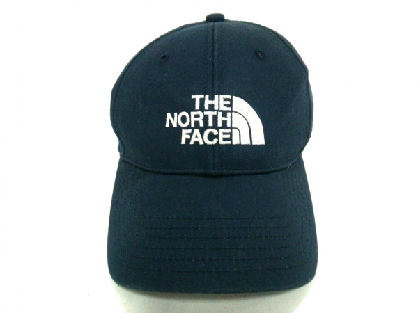 THE NORTH FACE(ノースフェイス) キャップ ネイビー コットン×化学繊維