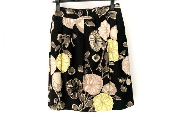 モスキーノ チープ&シック スカート サイズ6 M レディース 黒×ベージュ×マルチ 花柄