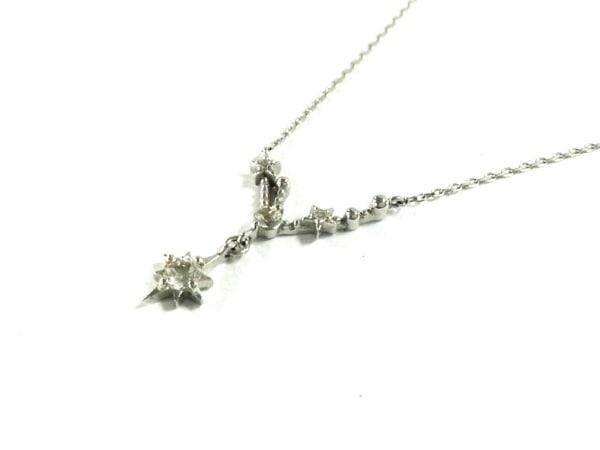 スタージュエリー ネックレス美品  K10×ダイヤモンド スター/0.07カラット