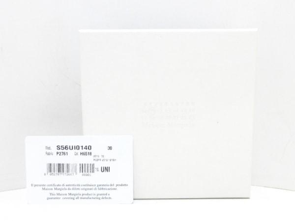 Maison Margiela(メゾンマルジェラ) 2つ折り財布美品  白×黒 パイゾン柄 レザー