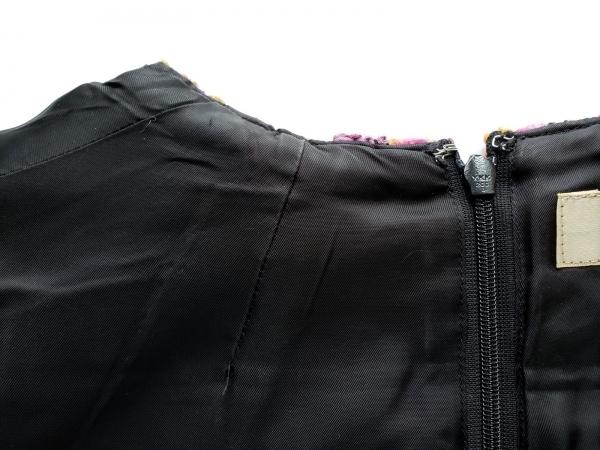 VOUS ETES(ヴゼット) ワンピース サイズ36 S レディース ピンク×黒×マルチ ツイード