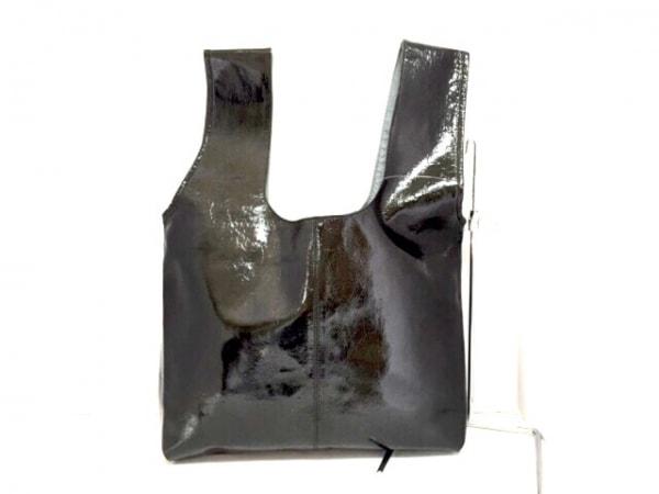 selvedge(セルヴィッジ) トートバッグ美品  黒 エナメル(レザー)