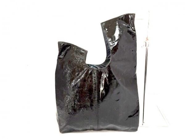 selvedge(セルヴィッジ) トートバッグ 黒 シワ加工 エナメル(レザー)