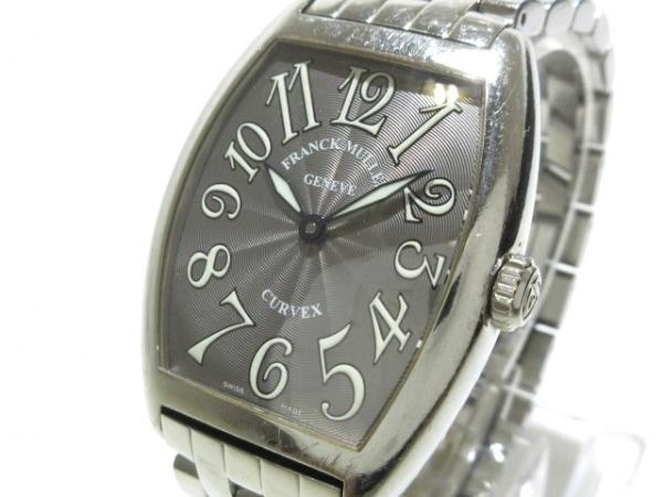 フランクミュラー 腕時計 トノーカーベックス 7502QZ レディース SS ダークグレー