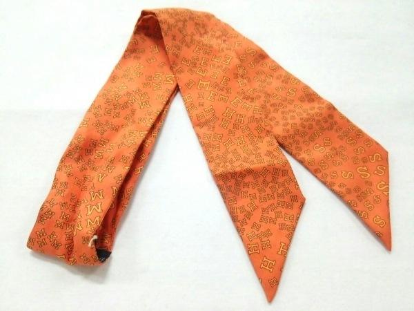 HERMES(エルメス) スカーフ美品  ツィリー オレンジ