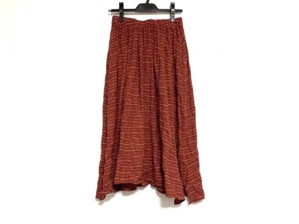 JURGEN LEHL(ヨーガンレール) スカート サイズM レディース美品  レッド×白