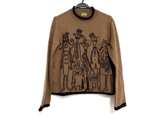 OLLEBOREBLA(アルベロベロ) 長袖セーター レディース美品  ブラウン×黒
