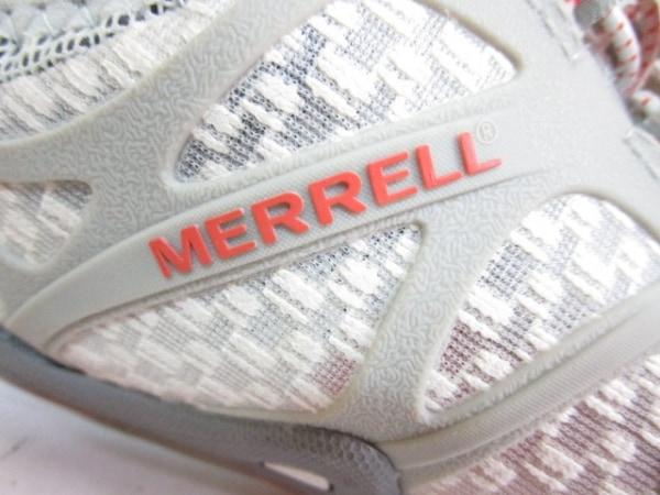 メレル スニーカー レディース アイボリー×ライトグレー×ピンク 化学繊維×ラバー