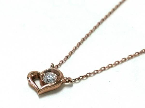 スタージュエリー ネックレス美品  K10×ダイヤモンド K10ピンクゴールド