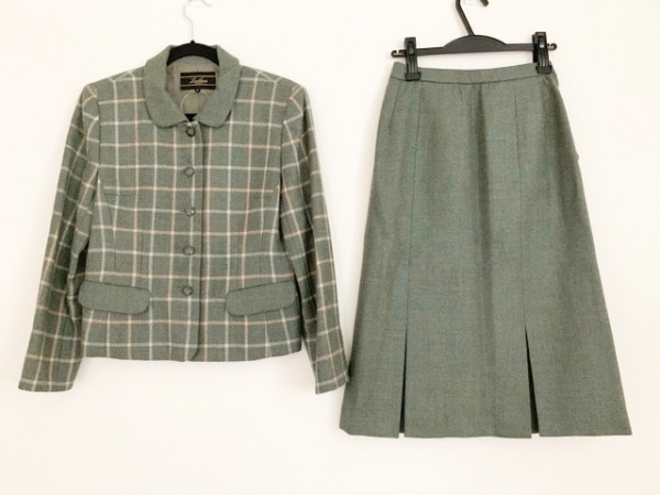 レリアン スカートスーツ サイズ9 M レディース新品同様  ツイード/チェック柄
