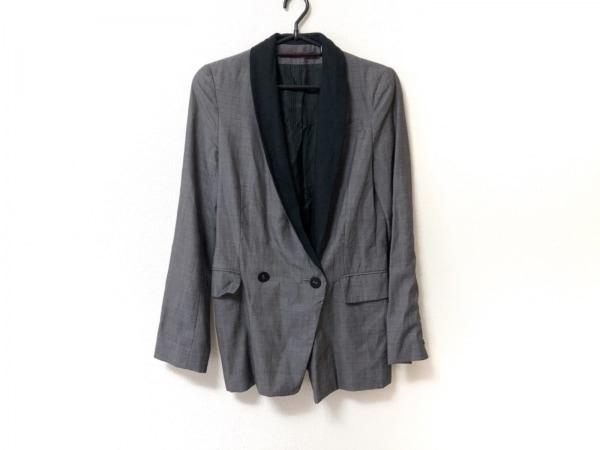 コントワーデコトニエ ジャケット サイズ36 S レディース 黒×グレー 肩パッド