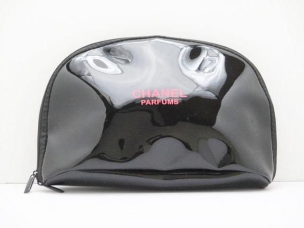 CHANEL PARFUMS(シャネルパフューム) ポーチ 黒 PVC(塩化ビニール)