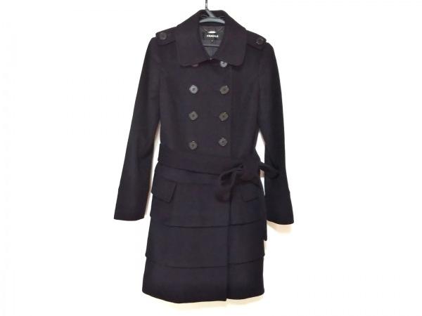 FRAGILE(フラジール) コート サイズ36 S レディース美品  黒 冬物/カシミヤ混