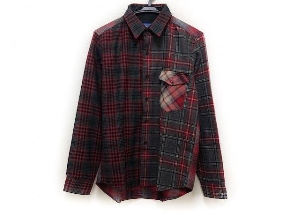 ペンドルトン 長袖シャツ サイズM メンズ美品  ダークグレー×レッド×マルチ