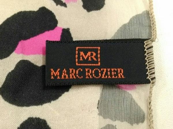 マルクロジェ ストール(ショール)美品  ベージュ×黒×ピンク 豹柄 シルク
