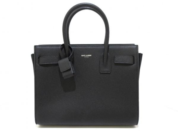 サンローランパリ ハンドバッグ美品  サックドジュールベイビー 398710 黒 レザー