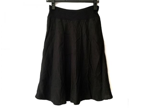 three dots(スリードッツ) スカート サイズXS レディース 黒