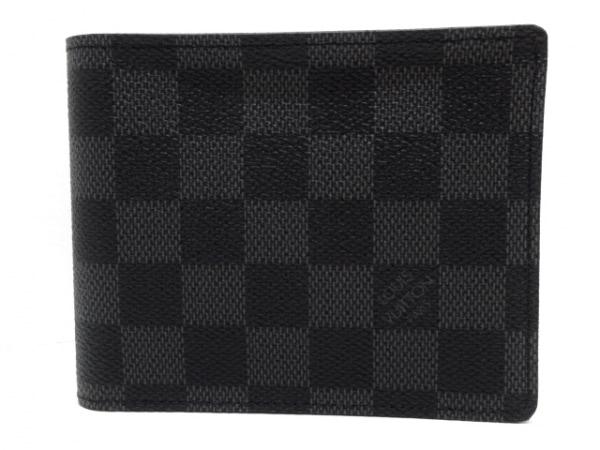 ルイヴィトン 2つ折り財布 ダミエグラフィット美品  ポルトフォイユ・フロリン N63074
