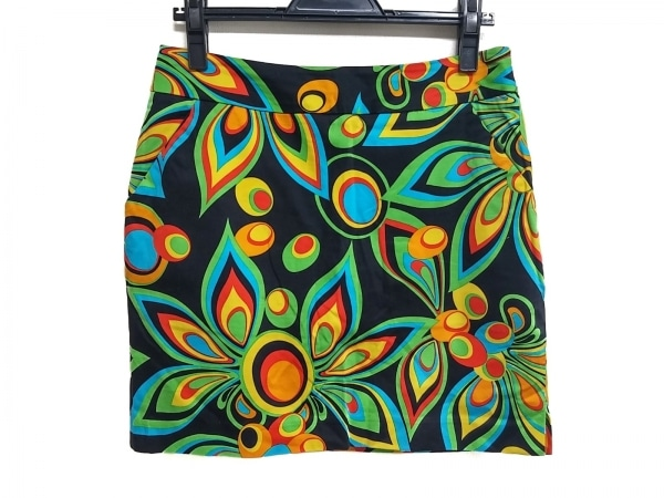 LOUDMOUTH(ラウドマウス) スカート レディース美品  黒×オレンジ×マルチ