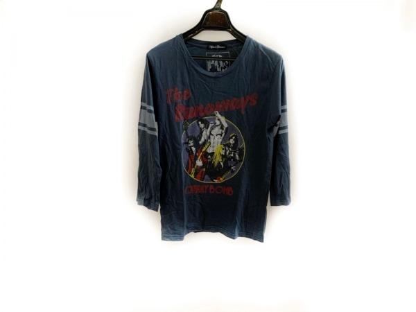 ヒステリックグラマー 長袖Tシャツ サイズF レディース ダークグレー×レッド×マルチ