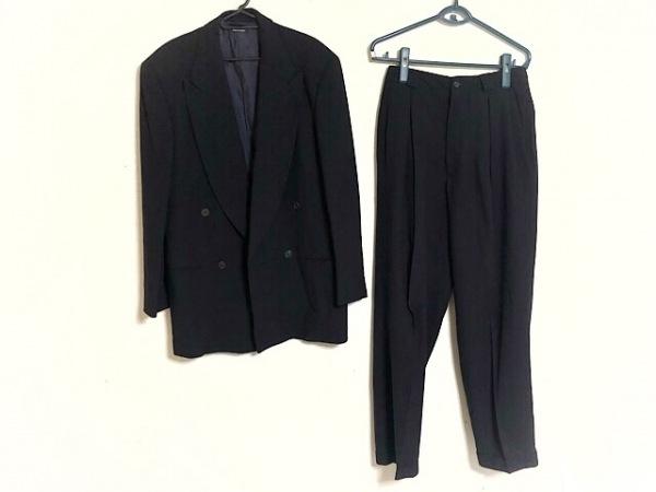 ジョルジオアルマーニ ダブルスーツ サイズ46 S メンズ新品同様  黒 ダブル/肩パッド