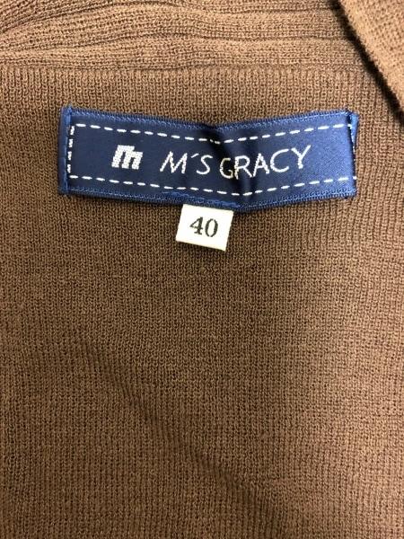 M'S GRACY(エムズグレイシー) 半袖カットソー サイズ40 M レディース美品  ブラウン
