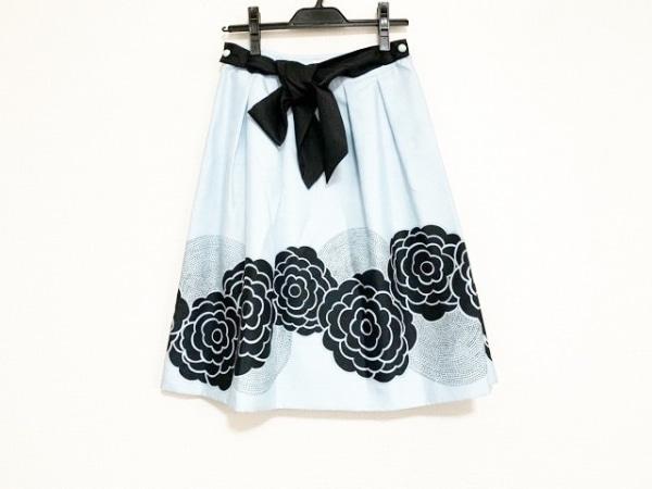 トゥービーシック スカート サイズ38 M レディース美品  ライトブルー×黒