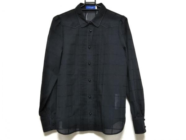 ブルーレーベルクレストブリッジ 長袖シャツブラウス サイズ40 M レディース美品  黒