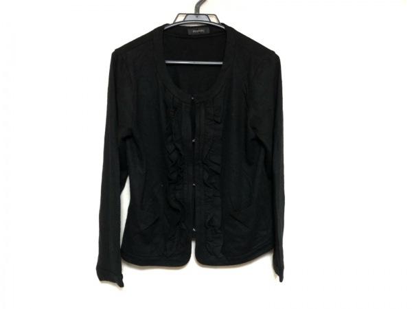 INGEBORG(インゲボルグ) ジャケット サイズ11 M レディース美品  黒 ニット/フリル