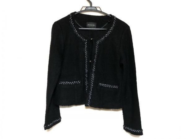 インゲボルグ ジャケット サイズ9 M レディース美品  黒 フェイクパール/ラメ