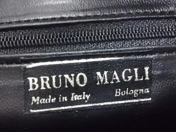 BRUNOMAGLI(ブルーノマリ) ハンドバッグ ブラウン×黒 スエード×レザー