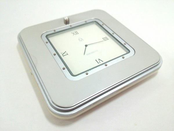 mikimoto(ミキモト) 小物 アイボリー×シルバー パール/置時計 ガラス×プラスチック