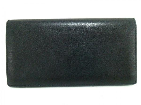 カルティエ 長財布 カボション 黒×シルバー レザー×金属素材 2