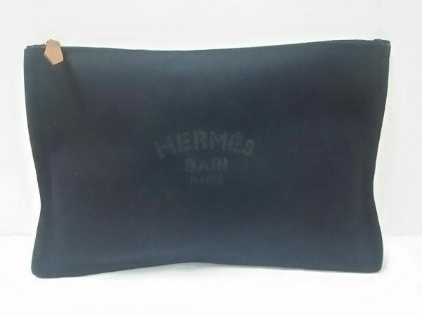 HERMES(エルメス) ポーチ美品  ヨッティングGM 黒 キャンバス