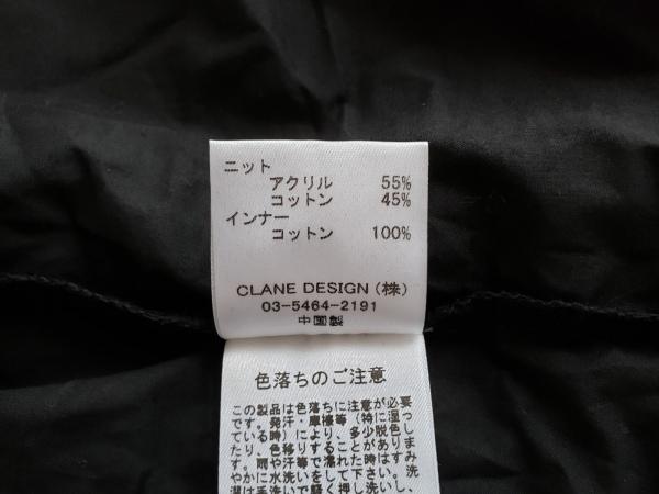 CLANE(クラネ) ワンピース サイズF レディース 黒 ニット