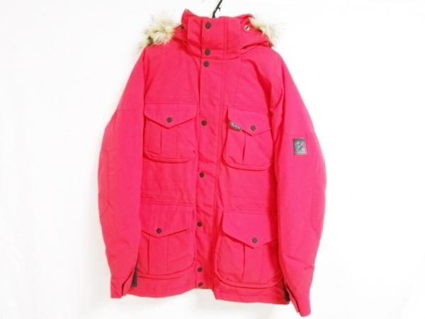 ラルフローレン ダウンジャケット サイズL メンズ美品  レッド フェイクファー/冬物