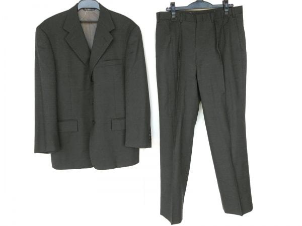 ポロラルフローレン シングルスーツ メンズ新品同様  ダークグレー ストライプ