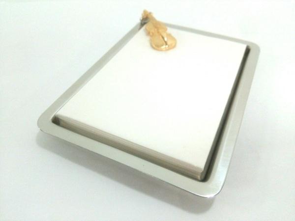 WAKO(ワコー) 小物美品  シルバー×ゴールド メモ台 金属素材